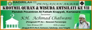 haflah wisuda amtsilati ke VII PP. Al Fattah